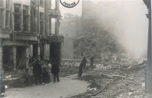 Photo:Damage to King Street, St James's, February,1944